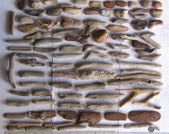 86 Natural Driftwood Mosaic Art and Craft Supplies (1669)