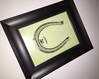 Lucky print -framed