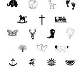 FREE SHIPPING!  Pack of 100 Metallic or Matte foil stamped plush napkins with your choice of image - anchor, elephant, tree, buck, giraffe