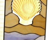 Stained Glass.. By the Sea.. One of a Kind Suncatcher Panel