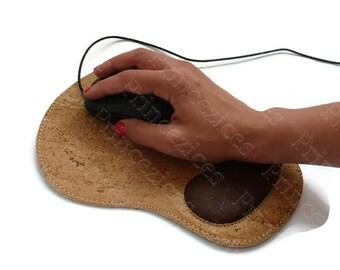 cork made ergonomic mouse pad wrist support