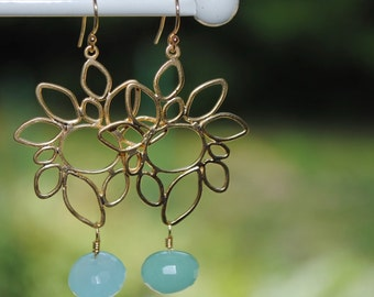Someday the Waves - Blue Chalcedony Earrings