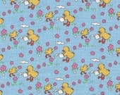 1/2 Yard of Tiny Baby Blue Ducks from the Toy Chest Collection for Penny Rose Fabrics