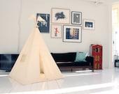 Teepee tent - plain MIDI size - play tent tipi wigwam
