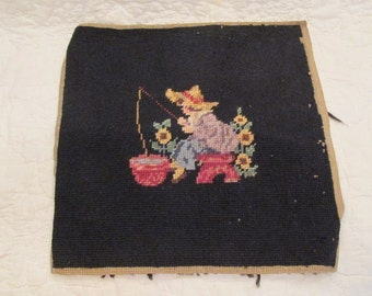 Vintage Needlepoint not perfect SALE