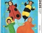 Infants Sunflower, Pumpkin Bumble Bee and Baby LadyBug Sewing Pattern Halloween Costume McCalls 2435 Sewing Pattern S M L