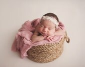 Pink Baby Wrap, Newborn Photo Props, Pink Linen Cotton Checkered Newborn Wrap Photography Props, Baby Photo Props, Cocoon, Gauze, Swaddle