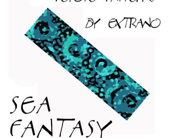 Peyote Bracelet Pattern by Extrano -  SEA FANTASY - 4 colors ONLY - Instant download