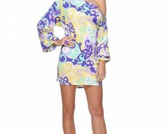 Purple print off the shoulder dress, ladies dress, boho chic, casual dress, night out dress, party dress, resort wear, summer dress, long sl