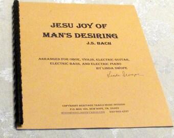 Jesu Joy Of Man's Desiring, J.S. Bach, arr. for oboe, violin, and electric keyboard, guitars