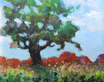Landscape painting original painting small abstract painting