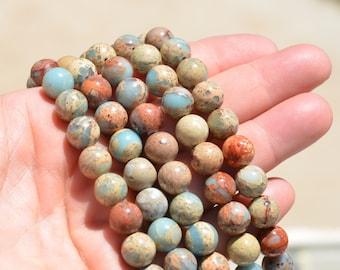 20 Snakeskin Jasper  10mm Round Beads  BD725