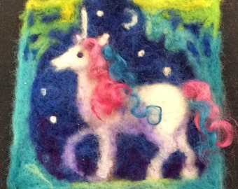 Midnight Unicorn Thyme Tile Needle Felting Kit