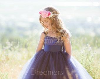 NEW! The Ella Dress in Navy  - Flower Girl Tutu Dress