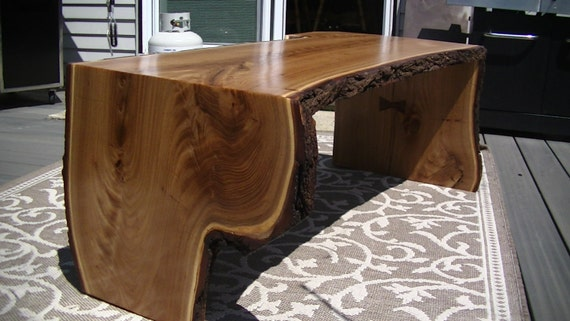 Live edge mulberry wood slab coffee table for Lovable wood slab coffee table