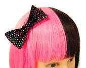 SALE Black Hair Bow Kawaii Polka Dot Hair Bows Rainbow Hair Accessories Cute Hairbows Black Bows