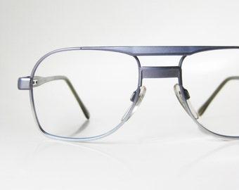 1970s Wire Aviator Eye Glasses Eyeglasses Silver Womens Ladies Metallic Minimalist Simple Handsome 70s Masculine Sunglasses Indie
