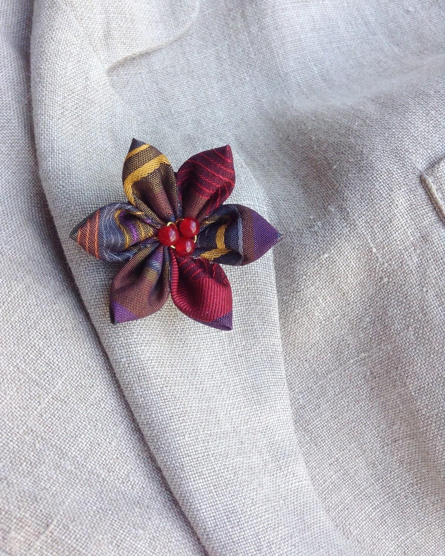 Brand Mens Brooch Pins Fabric Black White Bow Lapel Pin