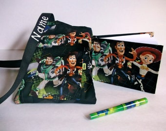 Disney TOY STORY autograph book bag with book, bag, and pen personalized for FREE adjustable strap