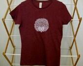 Hedgehog T Shirt Organic Cotton Blend in Berry