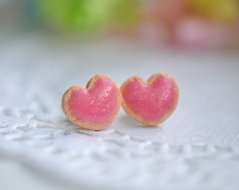 Pink Sugar cookie earrings-Sugar cookie collection-Scented-Miniature food jewelry