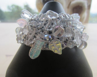 Crystal Knitted Bead Cuff... FREE SHIPPING