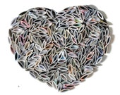 HEART wall art  - brightly colored recycled magazine - made from recycled magazines, colorful, unique, modern, bright