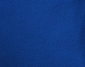 Royal Blue Hand Felted Wool Fabric - Hand Dyed - - 100% Wool