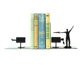 Magician Metal Art Bookends - Free USA Shipping