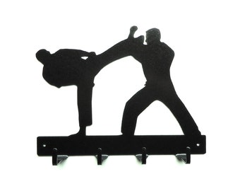 Karate Metal Art Key Rack - Free USA Shipping