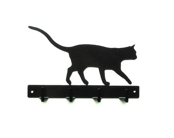 Cat Key Rack Metal Art - Free USA Shipping