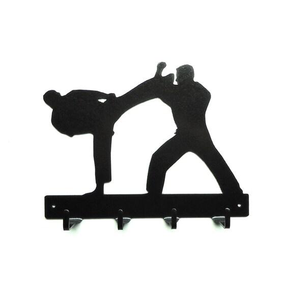 Karate Metal Art Key Rack - Free USA Shipping