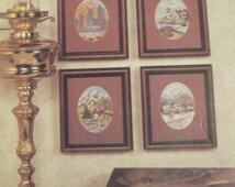Across the USA/J & P Coats Cross Stitch Book 206/4 Scenes/1989 Counted Cross Stitch Patterns/Needlecraft/Home Decor
