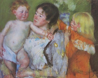 Mary Cassatt- After the Bath ,1901, Color Plate/ Book Page Print/8 x 5.25 in