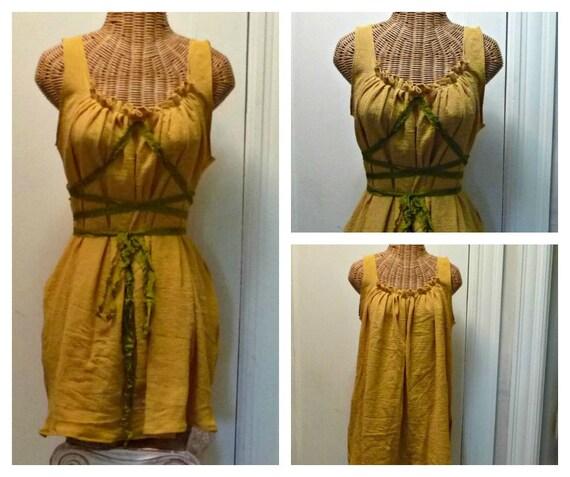 Citrine Dress Ren Faire Sunflower Honey Custom Gretel Fairytale Corset Renaissance Womens