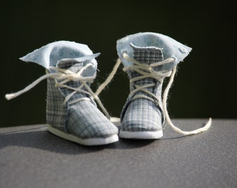 Lace-Up Hightop Doll Boots Pattern PDF Pictorial Tutorial