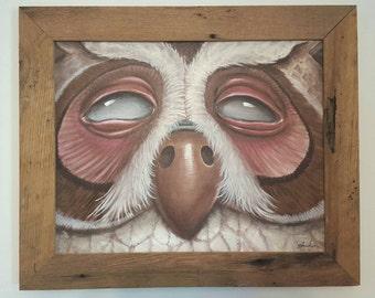 Original mystic owl painting