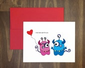 valentines day card / only have eyes for you / lots of eyes / silly creatures / anniversary / girl love boy / for best friend / blank inside