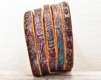Summer Trends, Leather Cuffs, Leather Bracelets, Women's Bracelets Cuffs, Leather Jewelry, Leather Wristbands Cuffs