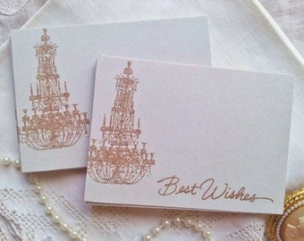Chandelier Wedding Wish Cards French Inspired Guest Book Alternative Set of 25