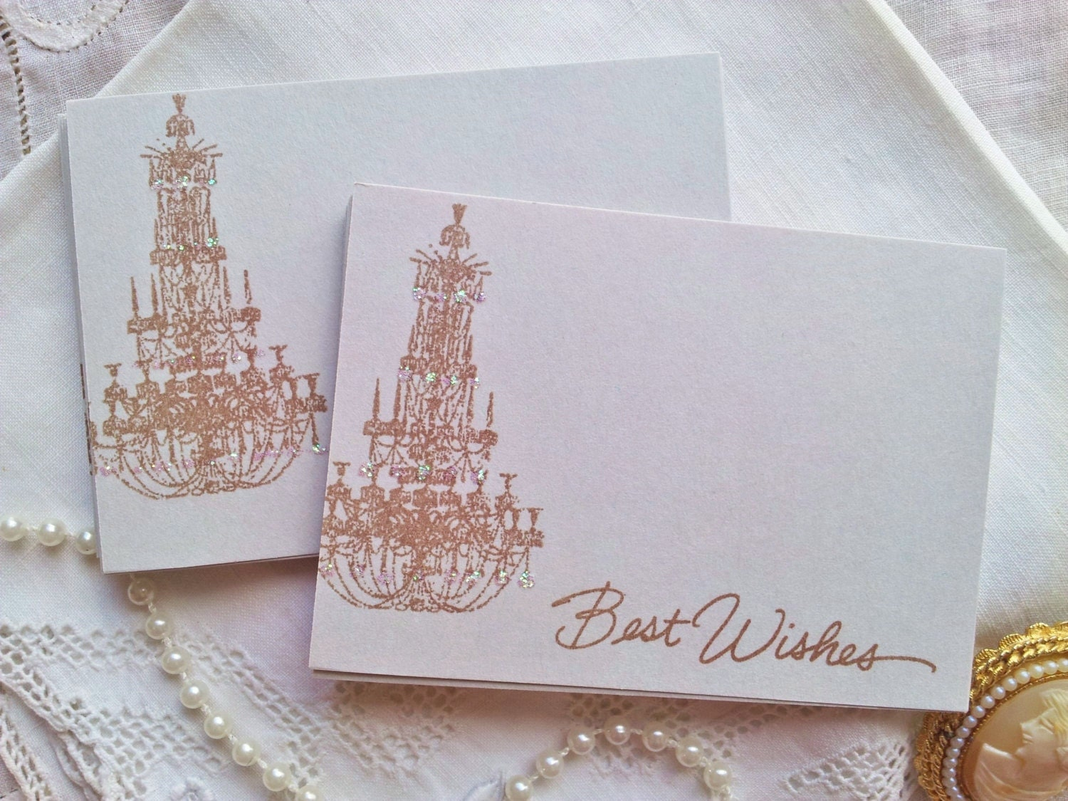 Chandelier Wedding Wish Cards French Inspired Guest Book