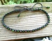Anklet Green, Grey and Black Size Options