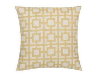 YELLOW Pillow Cover.Decorator Pillow Cover.Home Decor.Large Print. GIGI.Cushions. Cushion.Pillow. Premier Prints