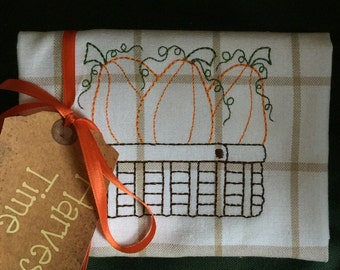 Pumpkin Hostess Towel
