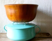 Vintage Dansk IHQ Teak Wood Bowl Wooden Serving Quistgaard Salad Denmark