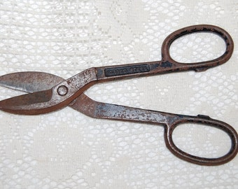 """Vintage Tin/Metal Snips/Shears KRAEUTER USA K-12 8"""""""