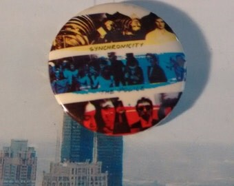 The Police button badge pin 1980s vintage Brit Rock eighties Sting Synchronicity
