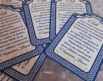 Wedding Favor Tags - 1 3/4 x 2 3/4 inch luggage tag stickers - Bottle Tags - Favors - Greek favor Tags - Greek Wedding - 50