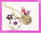 SOCCER Necklace -for Janelle only thank you #S69