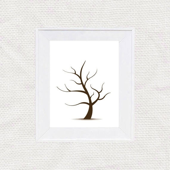 wedding tree guest book free template - diy fingerprint tree guest book template instant download